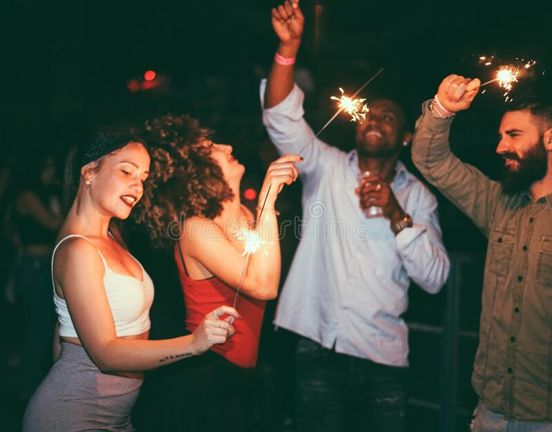 Group Of Young People Having Party Celebration. Stock ...  |People Having Fun In A Club