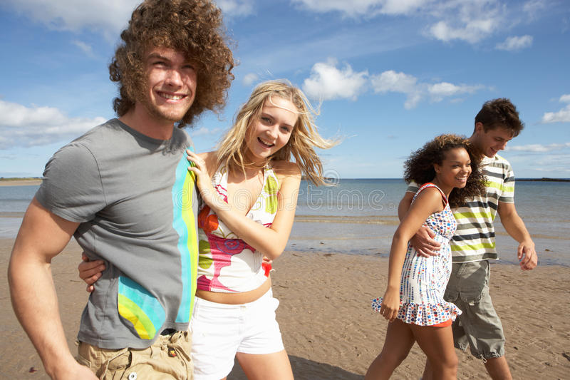 Young Friends Having Fun On Summer Beach
