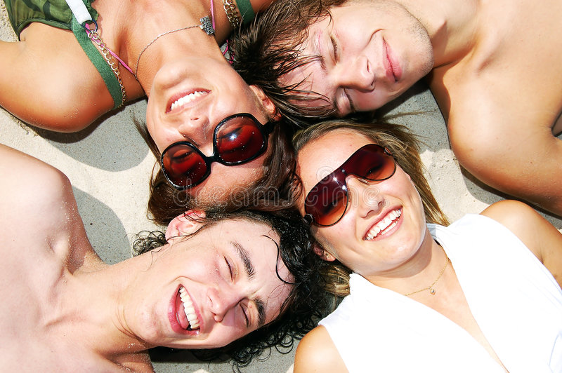 Young friends together stock images
