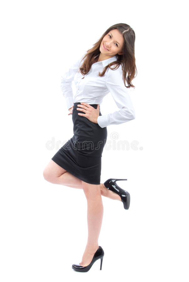 Download Young Full Body Business Woman Smiling Stock Photos - Image: 23826353