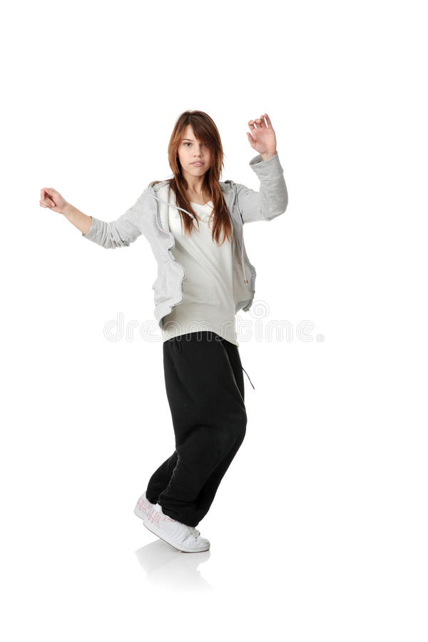 Young funky (house) dancer royalty free stock image