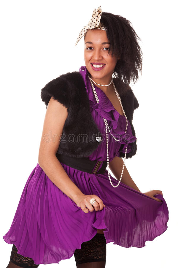 Young Funny Woman In Funky Style Royalty Free Stock Photo