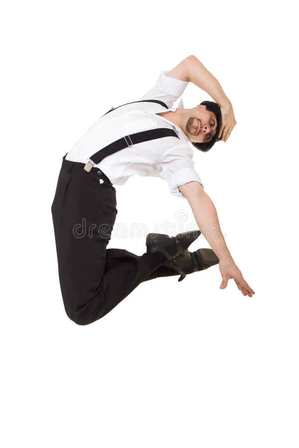 Download Young gentleman jumping stock image. Image of confident - 17252441