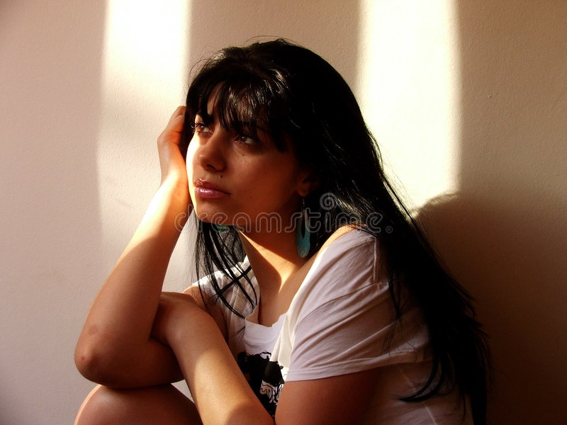 Download Young girl stock image. Image of eyes, think, black, brown - 209953