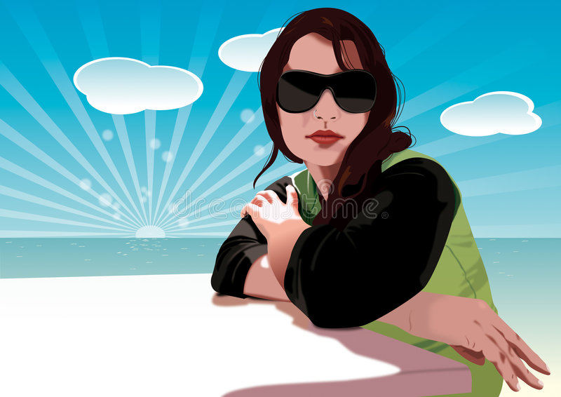 Young Girl stock illustration