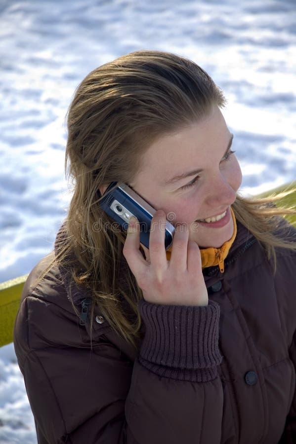 Download Young girl stock image. Image of flirt, phone, helpful - 506329