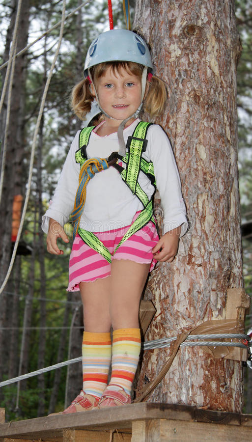 Download Young Girl In Adventure Park Stock Image - Image: 26900203