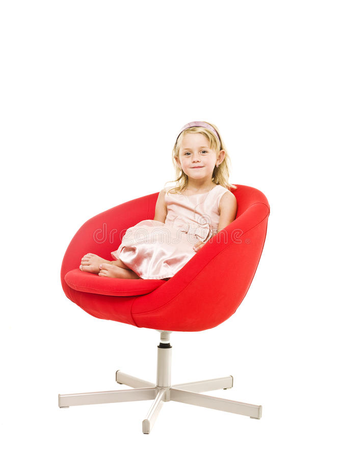 Download Young girl in an armchair stock image. Image of people - 15633391
