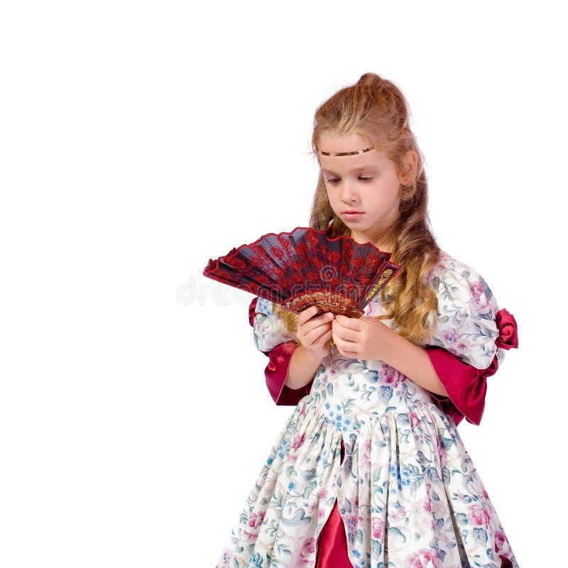 Young girl as princess royalty free stock image