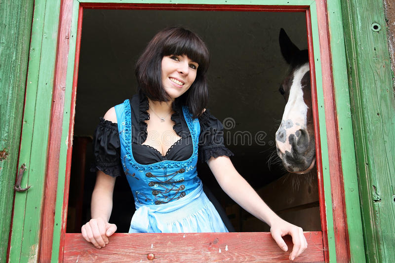 Download A young girl from Bavaria stock photo. Image of costume - 25722544