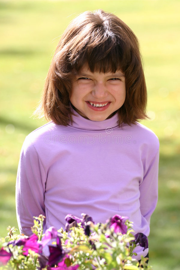 Young Girl Big Smile stock image