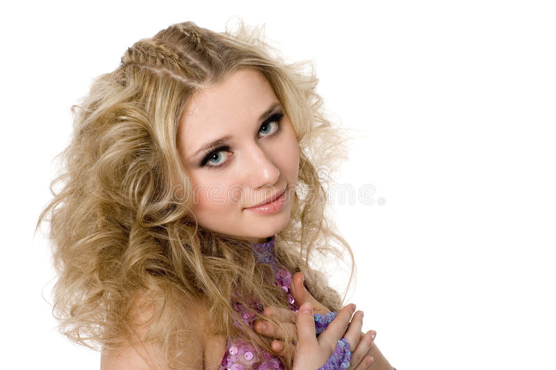 Young girl with blond royalty free stock images