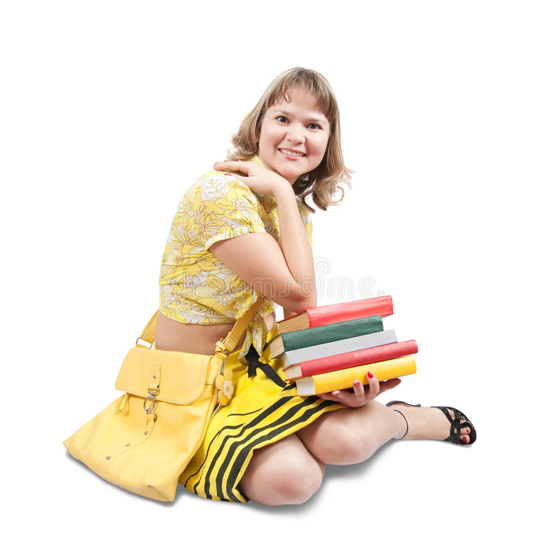 Download Young girl with books stock image. Image of lifestyles - 12963591