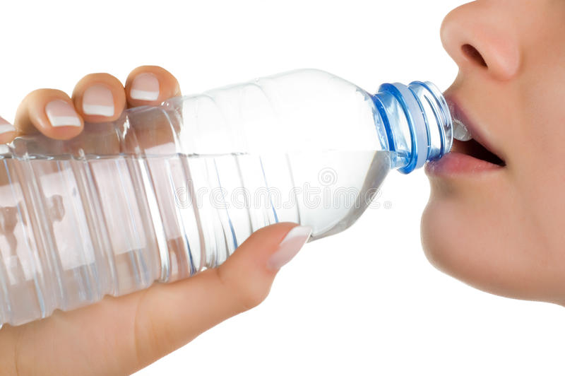 Download Young Girl With Bottle Of Mineral Water Stock Photo - Image: 9654678
