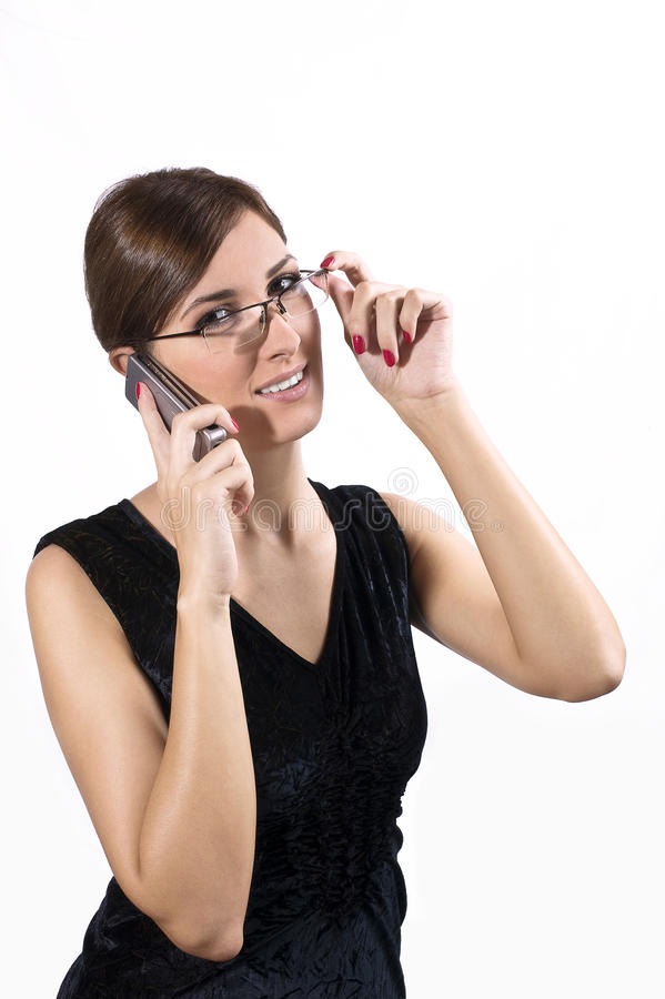 Download Young girl on cell phone stock image. Image of chatting - 11490625