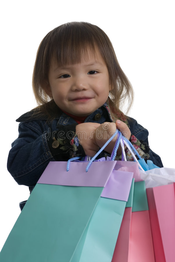 Download Young Girl Christmas Shopping 2 Royalty Free Stock Images - Image: 1514789