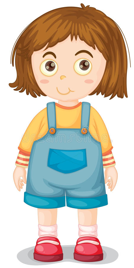 Young girl vector illustration