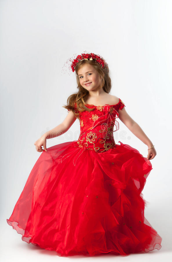 A young girl in costume royalty free stock image