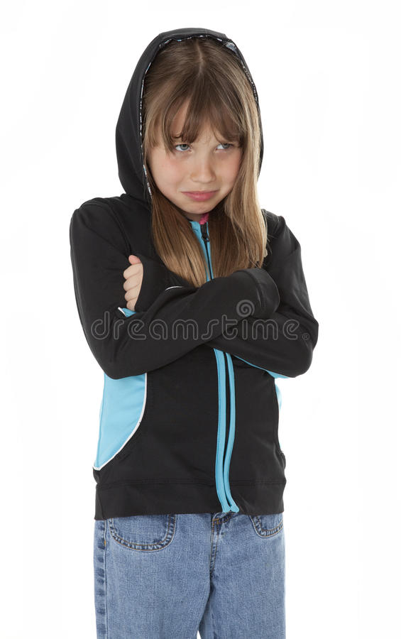 Young Girl in Distress royalty free stock images