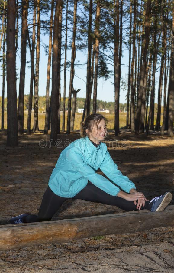 Woman, lifestyle, nature, exercise, fresh air, outdoor royalty free stock photography
