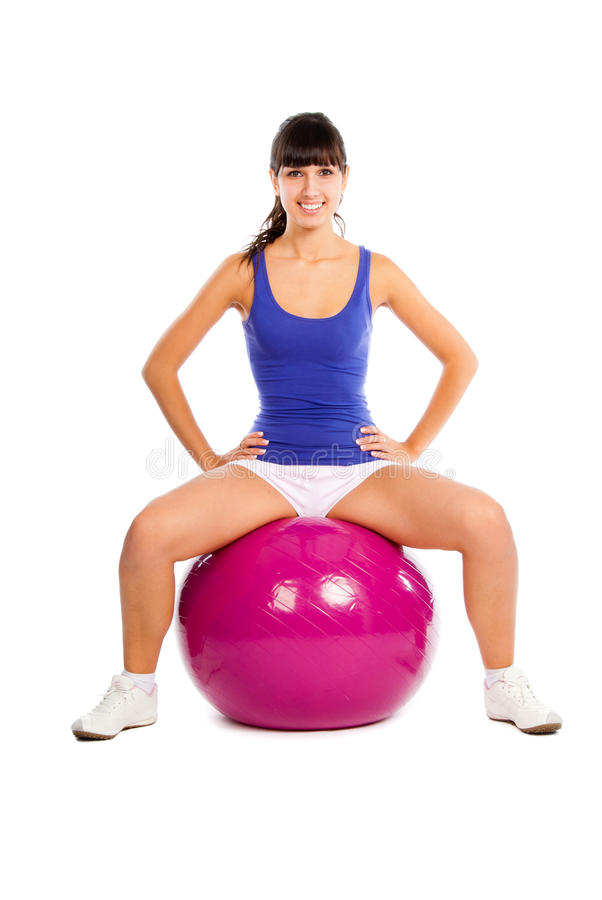 Download Young Girl Doing Fitness Stock Image - Image: 14998571