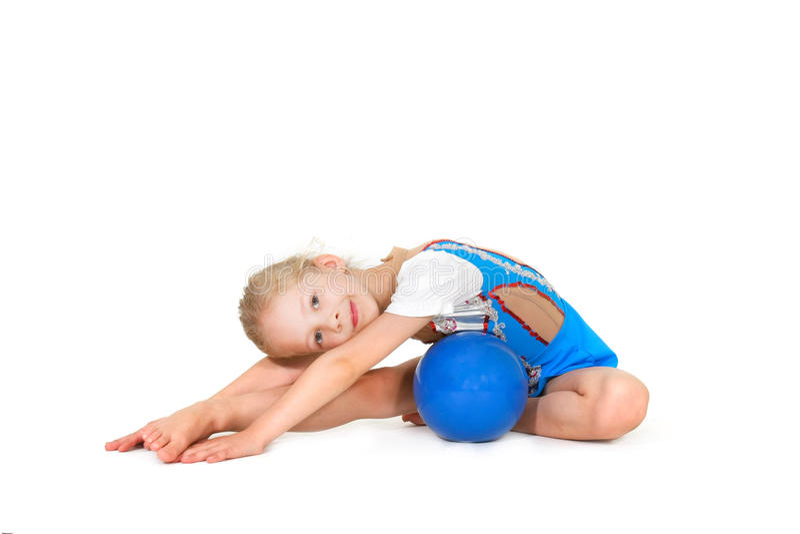 Download Young Girl Doing Gymnastics Stock Photo - Image: 12029472