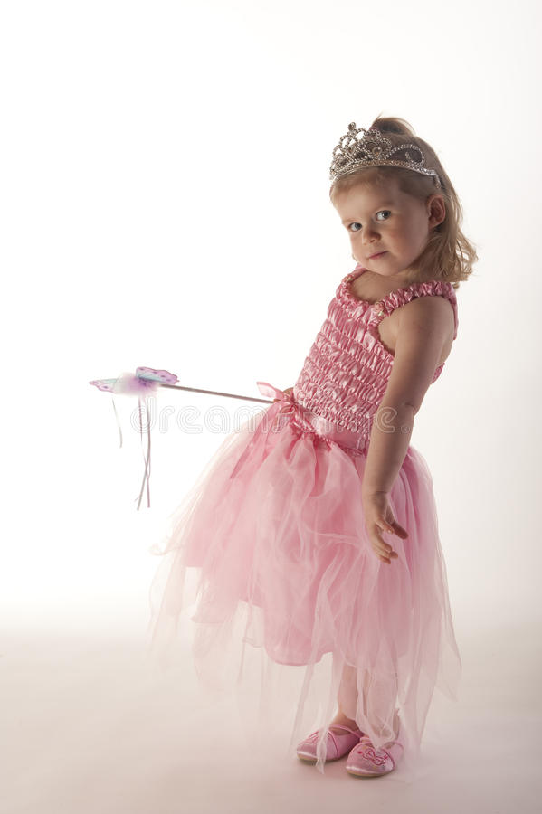Young girl dressed in fairy princess costume royalty free stock photography