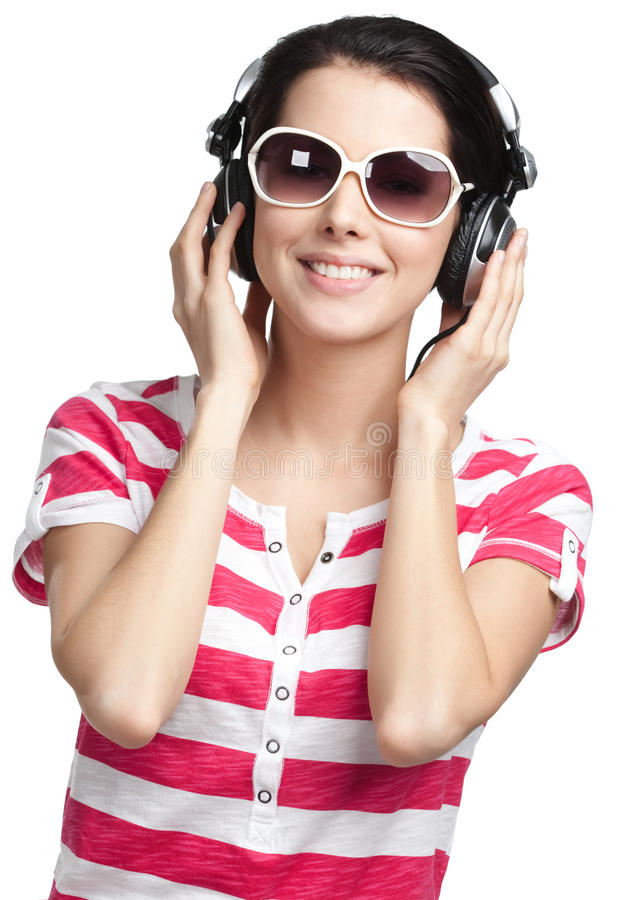 Download Young Girl With Earphones Stock Photos - Image: 26759483