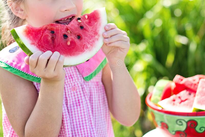 Young Girl Eating Watermelon Free Public Domain Cc0 Image