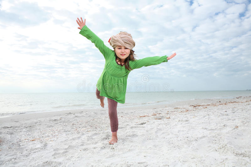 Download Young Girl Enjoys Summer Day At The Beach. Stock Image - Image: 18228661