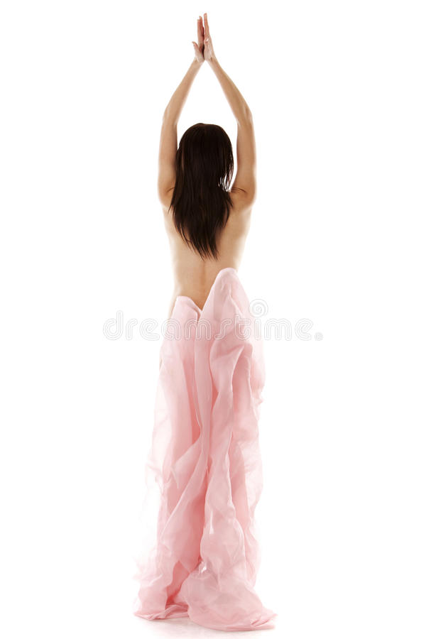 Download Young girl with fabric stock photo. Image of pink, idyllic - 28277522