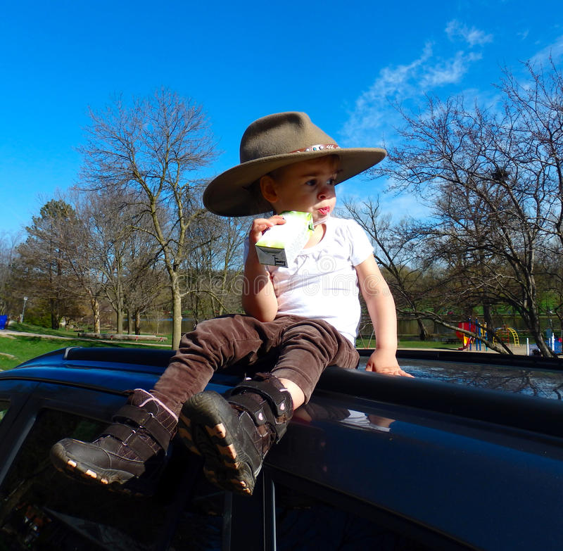 A young girl at a farm in southern ontario royalty free stock photos