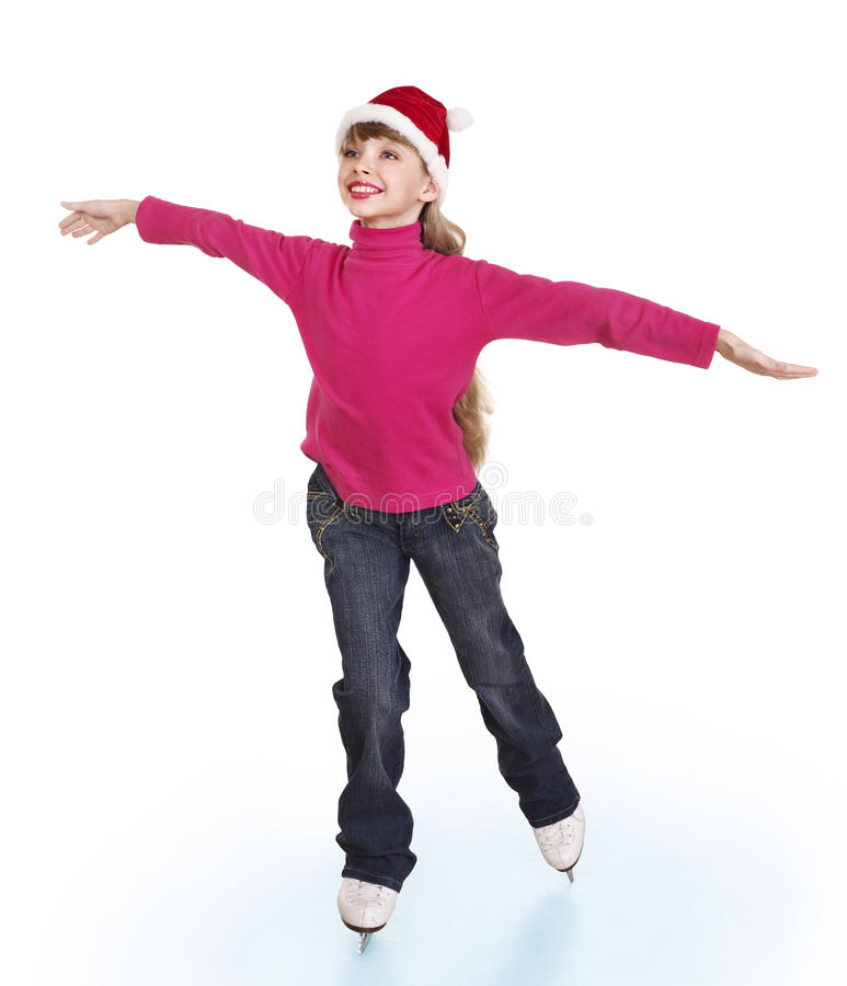 Download Young Girl Figure Skating.. Stock Image - Image: 28031615