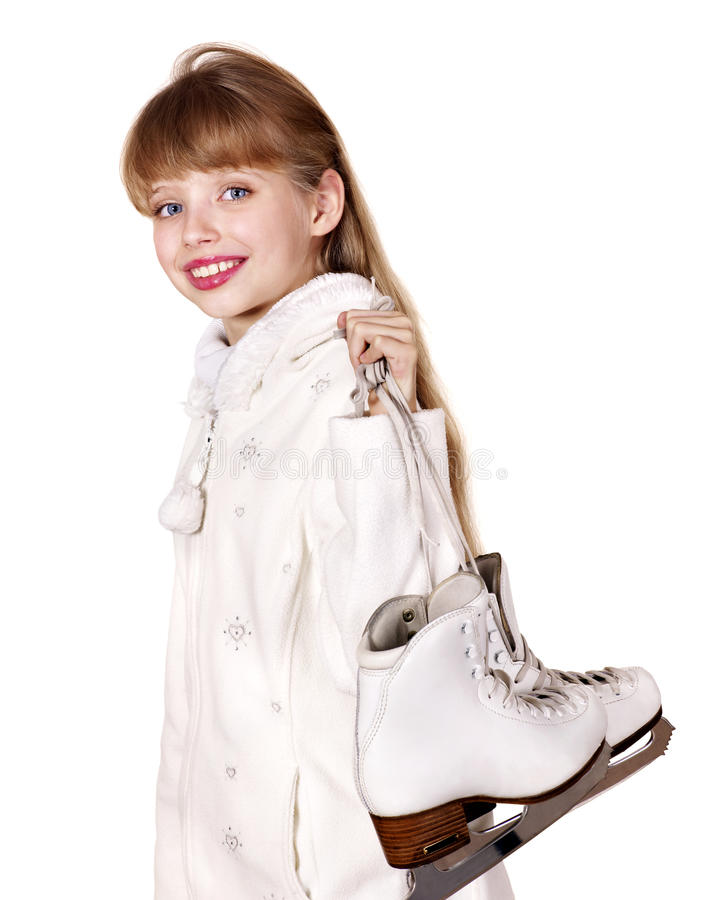 Download Young Girl Figure Skating.. Stock Image - Image of offspring, isolated: 34068353