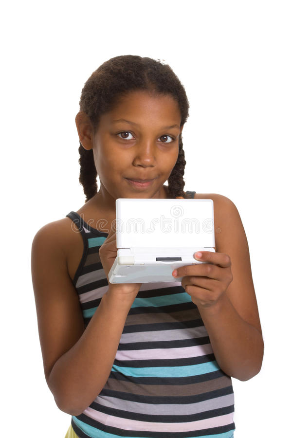Download Young Girl gaming stock image. Image of computer, cute - 15354793