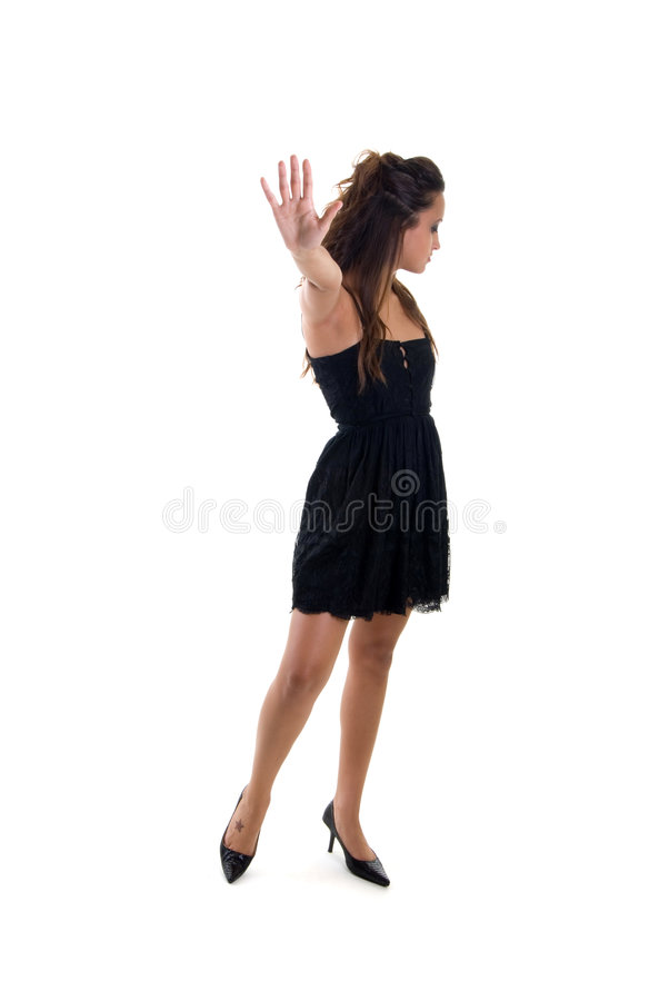 Download Young girl gesturing stop stock photo. Image of latino - 3029156