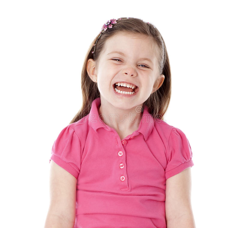 Download Young girl giggling stock image. Image of studio, long - 26672021