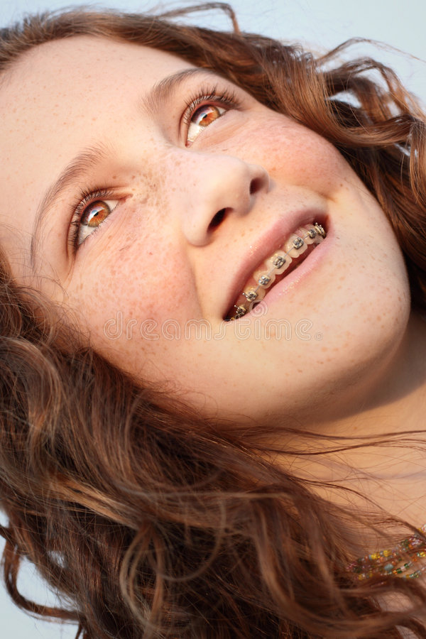 Download Young girl glancing away stock photo. Image of shot, beautiful - 7238088