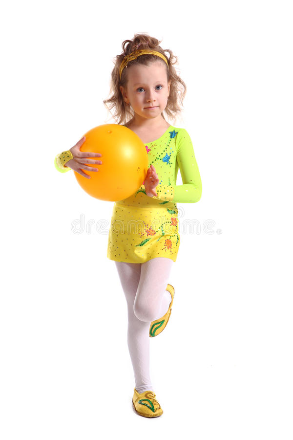 Young the girl-gymnast royalty free stock image