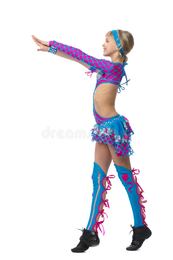 Download Young girl gymnast stock image. Image of acrobat, attitude - 18963057
