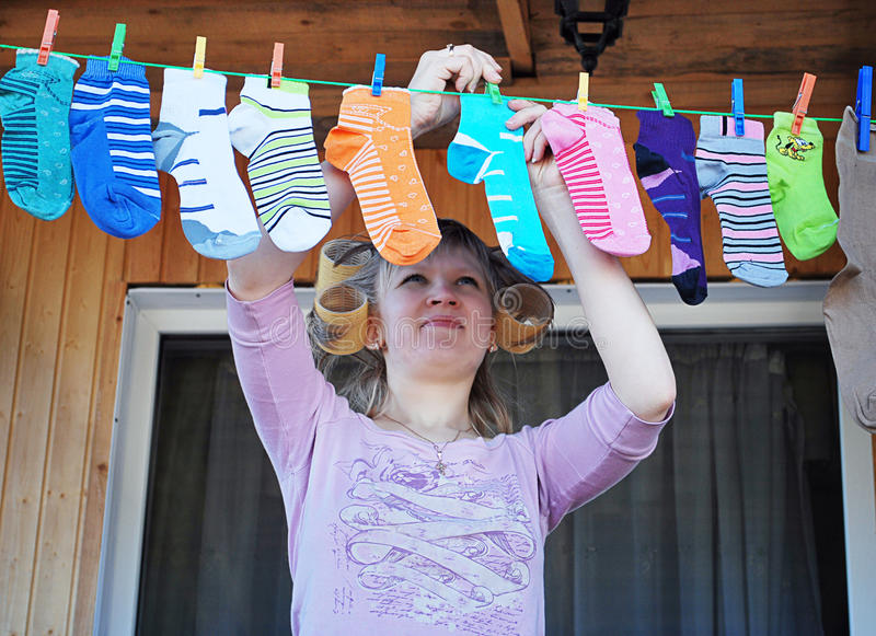 Pure socks royalty free stock photo