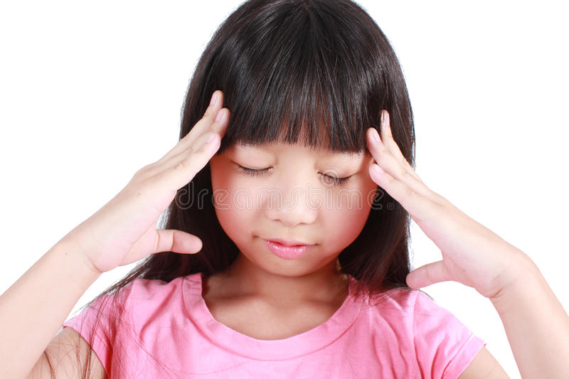 Young girl having stress royalty free stock image