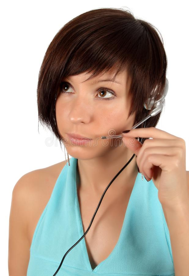 Download Young Girl With Head Phones Stock Photo - Image: 7944788