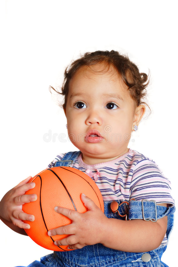 Free Young Girl Holding A Ball Royalty Free Stock Photos - 735658