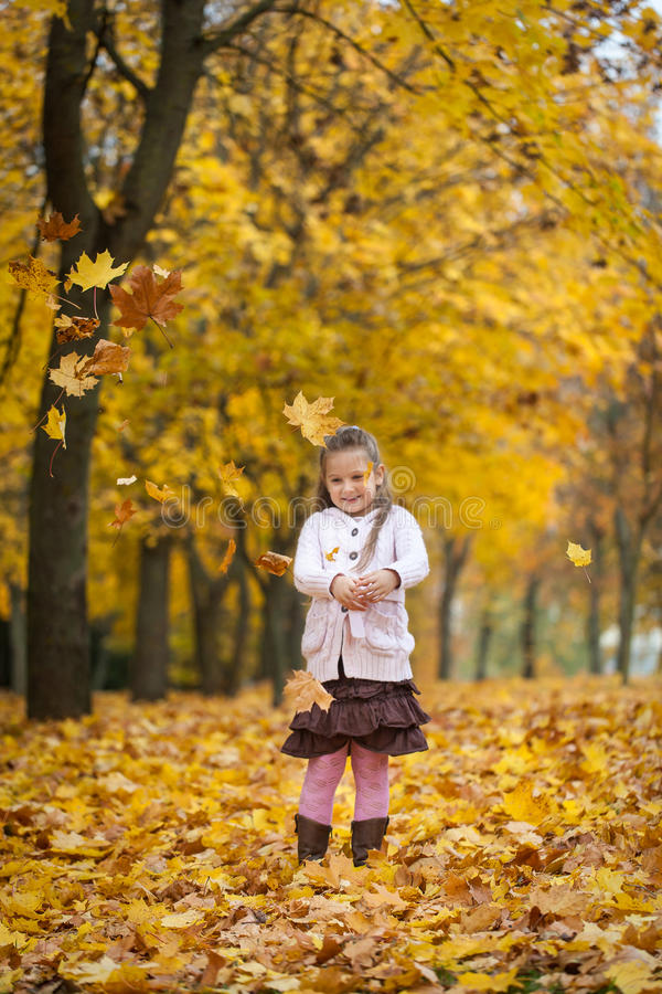 Free Young Girl In Autumn Park Stock Photos - 77366763