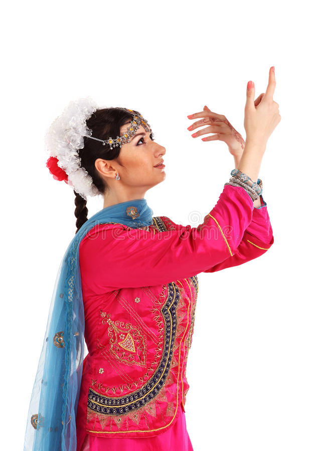 Download Young Girl In The Indian National Costume Royalty Free Stock Images - Image: 29396949