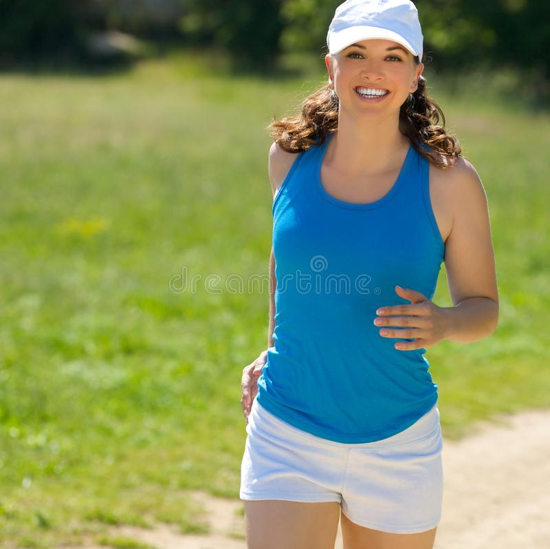 Young girl jog stock image