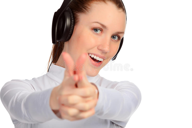 Download Young Girl Listening Music. Royalty Free Stock Photo - Image: 23206475