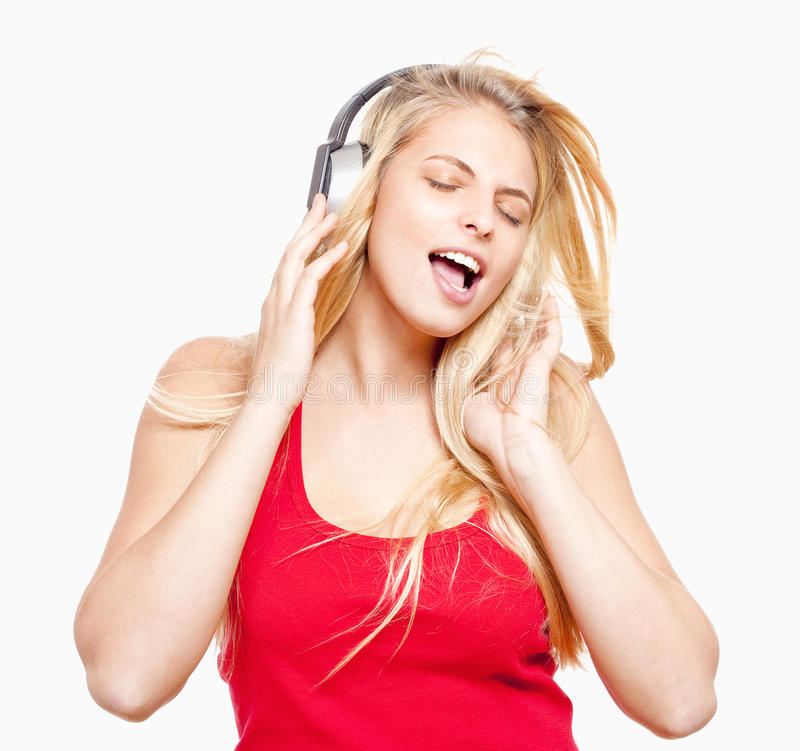 Young Girl Listening To Music Royalty Free Stock Images