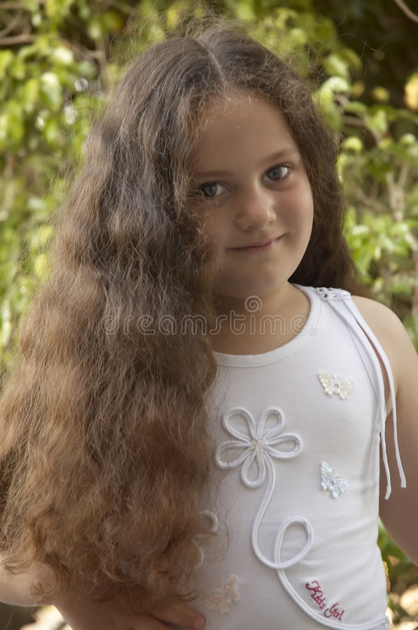 Young girl with long hair stock image. Image of face, hair - 15